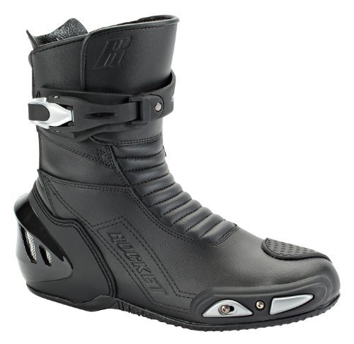 Leather Street Motorcycle Boots (Joe Rocket Super Street RX14 Men's Leather Motorcycle Riding Boots (Black, Size 10))