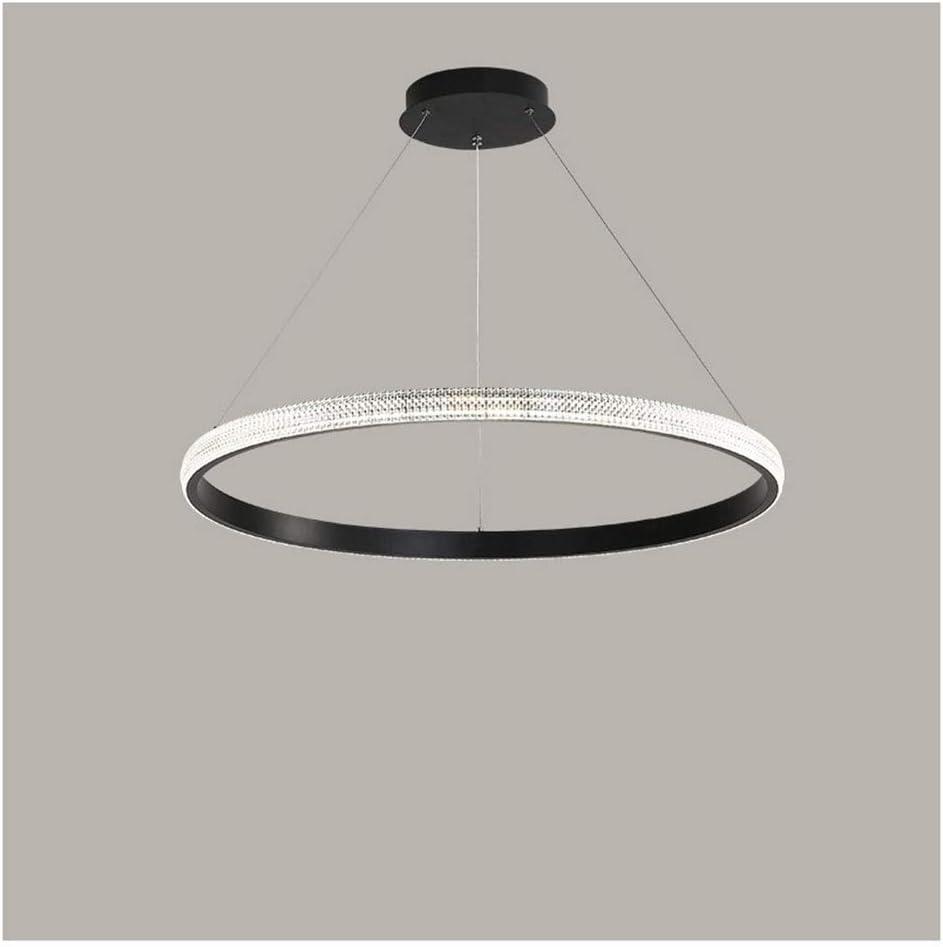 Lámpara colgante posmoderna para sala de estar, lámpara de araña de restaurante de acrílico circular, anillo de combinación Producción simple de lámpara de araña (color: bronce dorado, tamaño: 40 cm)