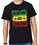 Trinity Men's Printed Half Sleeves T-shirt Mountains Are Calling | Black 100% Cotton | Valentines day special | Offers | Gifts for Boyfriend | (XX-Large)