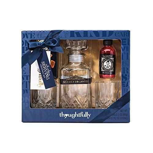 The Whiskey Cocktail Gift Set | Contains Whiskey Decanter, Manhattan Mixer, Two (2) Whiskey Glasses, and Whiskey (Manhattan Gift Set)