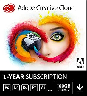 Amazon com: Adobe Creative Cloud | 1 Year Subscription (Download