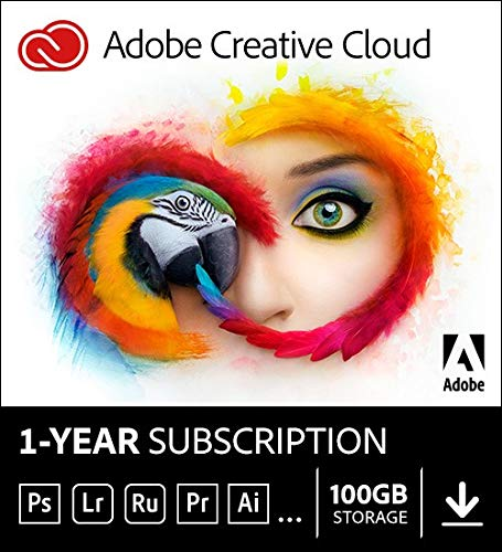 Adobe Creative Cloud |Entire Collection Of Adobe Creative Tools Plus 100 Gb Storage | 12 Month Subscription With Auto Renewal, Billed Monthly, Pc/Mac by Adobe