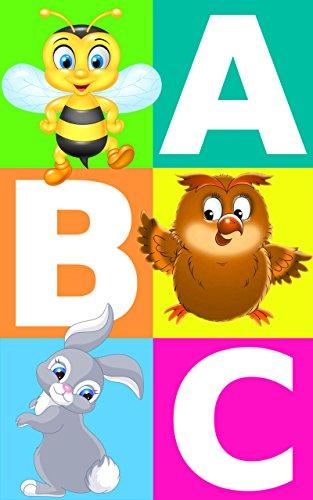 alfabeto abc con imágenes de animales aprendiendo para niños