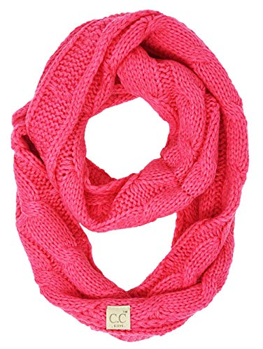 SK-6847-80 Kids Infinity Scarf - Solid Candy Pink