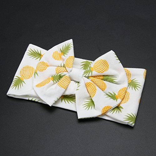 Diamondo 2pcs Baby Infant Swaddle Wrap Blanket Pineapple Print Sleeping Bag Headband by Diamondo (Image #4)