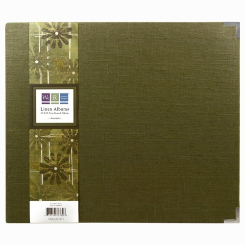 UPC 633356703716, We R Memory Keepers Linen 12 Inch by 12 Inch Postbound Album, Avocado