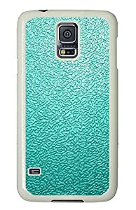 Samsung Galaxy S5 Blue Traces The Background PC Custom Samsung Galaxy S5 Case Cover White