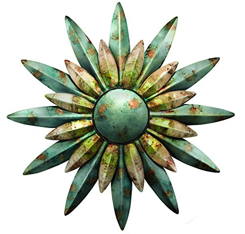 Regal Art & Gift 10200 Sunburst Sun Wall Decor, Aqua (Large Wall Art Metal Sun)