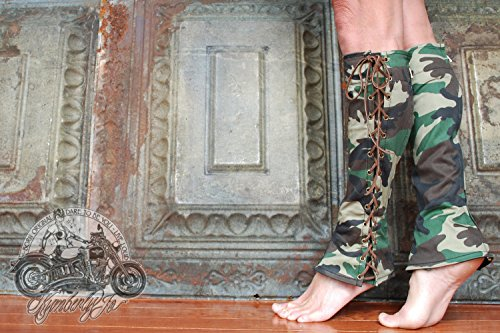 Knee High Lace Up Camouflage Boots by Kymberly Jo