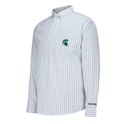 gan State Spartans Men's No Excuses Woven Shirt, White, XX-Large ()
