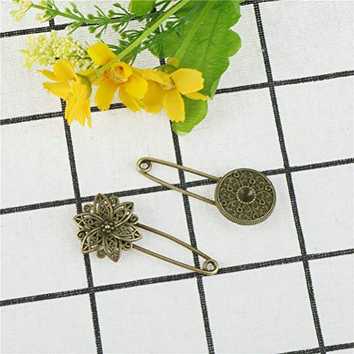 Pins Pincushions - Arrival Fashion Pin Brooch Disk Shape Ornaments Safety Pins Vintage - Safety Fashion Gold Women Safety Terminal Pin Safety Brooch Pin Pin Pins Saloeelaitte Luster Jewelr