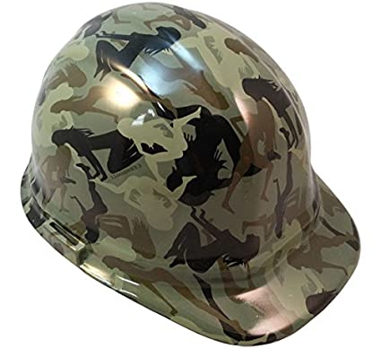 Texas America Safety Company Camo Bootie Cap Style Hydro Dipped Hard Hat -  Green - - Amazon.com a08016abc418