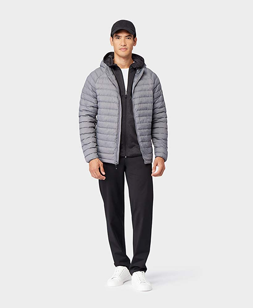 32 DEGREES Mens Ultra-Light Down Packable Hooded Jacket