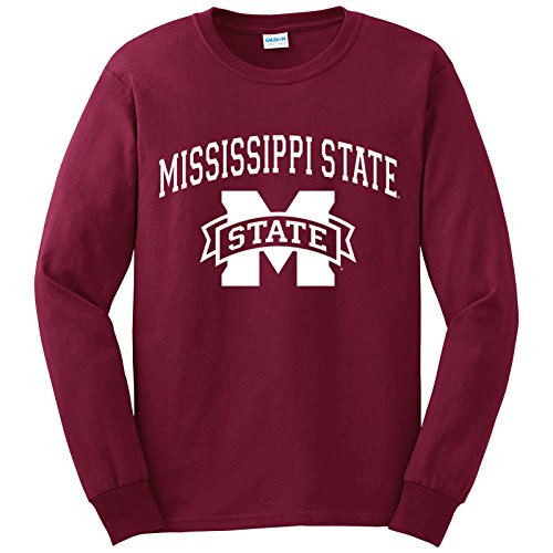 UGP Campus Apparel AL03 - Mississippi State Bulldogs Arch Logo Long Sleeve - Large - Maroon