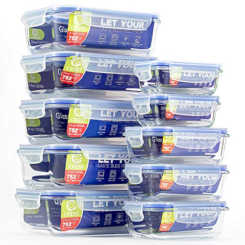 Glass Food Storage Containers with Airtight Lids (10-Pack) for sale  Delivered anywhere in USA