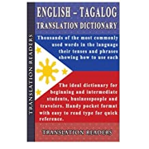 English Tagalog Translation Dictionary and Phrasebook
