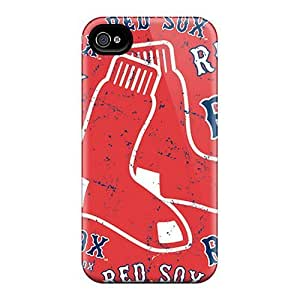 AnnetteL Perfect Tpu Case For Iphone 4/4s/ Anti-scratch Protector Case (boston Red Sox)