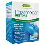 Pharmepa RESTORE Pure EPA Omega-3 Fish Oil, Triple Strength 1000mg EPA Omega-3, Pharmaceutical-grade Wild Fish Oil, High Potency & Maximum Absorption, for heart, brain function and mood, 60 caps