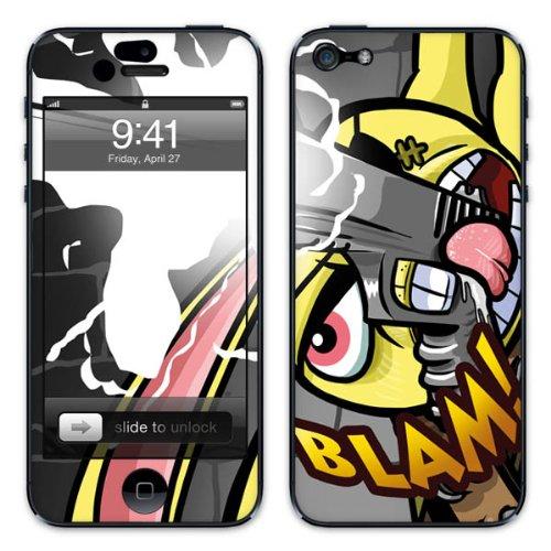 Diabloskinz B0081-0046-0028 Vinyl Skin für Apple iPhone 5/5S Blam Bad Bunny