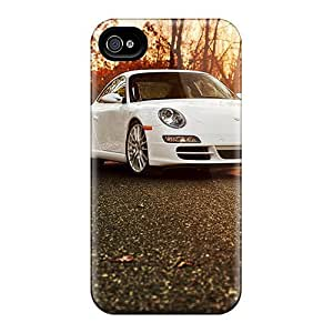 Luoxunmobile333 Perfect Cases For Case Ipod Touch 4 Cover Anti-scratch Protector Cases (porsche 911 In The Autumn Forest)