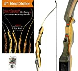 Spyder Takedown Recurve Bow & arrow by Southwest Archery USA | weights 20 25 30 35 40 45 50 55 60 lb | LEFT or RIGHT HAND Archery Kit | Designed by Engineers of the Samick Sage | WS 45 lb RH W/ TOOL