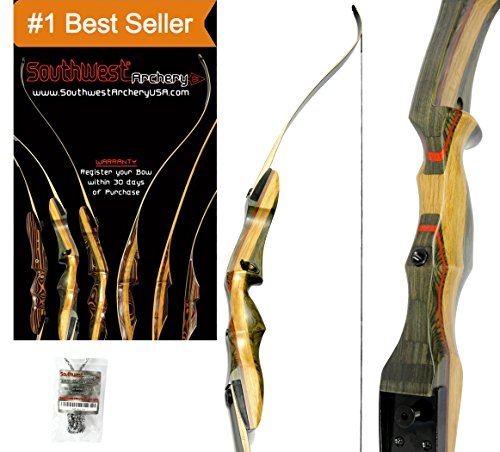 Spyder Takedown Recurve Bow and arrow by Southwest Archery USA | weights 20-60 lb | LEFT or RIGHT HANDED Archery Kit