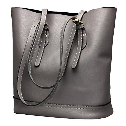 Bag Summer Women's Tote Purse Handbags Grey body Cross Leather Bucket Shoulder qFZBwZtTg