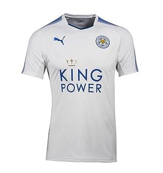 Puma Fútbol Leicester City FC England Camiseta 3rd 2017 2018 Niños Color Blanco Azul, Mujer