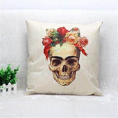 Cojín Frida Skull mexicano @ Kustom Factory: Amazon.es: Hogar