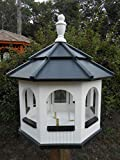 Large Gazebo Vinyl Bird Feeder Amish Homemade Handmade Handcrafted White & Black Review