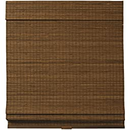 Cordless Woven Wood Bamboo Roman Shade Brown (46x64)