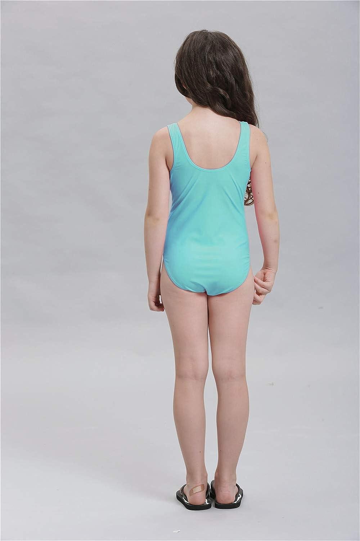 DarkCom Kids Girls Sleeveless Swimsuit Skirt One Piece Bikini Beach Bathing Swimwear