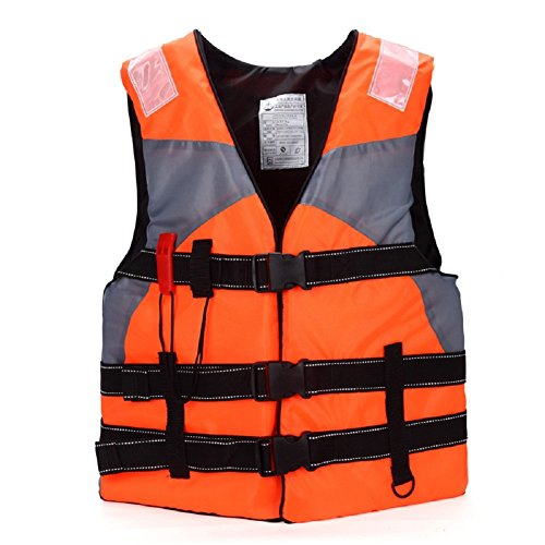 Life Jackets,Multi-Sport Adult Floating Swimming Buoyancy Aid Vest For Fishing Outdoor Sports With Whistle--Orange