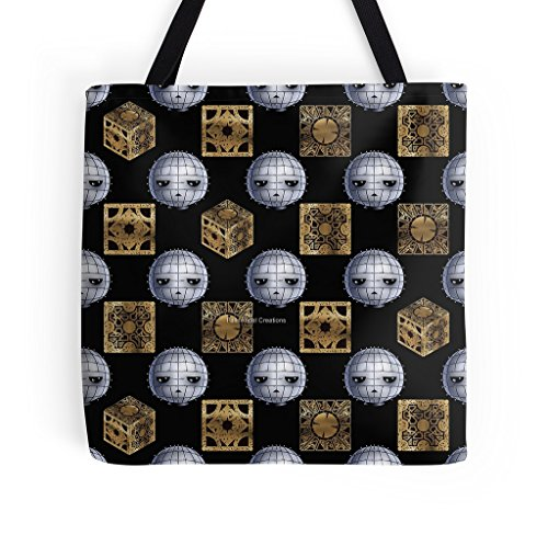 Hellraiser Tote Bag, Chibi Pinhead & Puzzle Boxes, 3 Sizes Available
