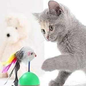 sourban Funny ratón vaso plástico bolas jugar mascota Gatos juguetes