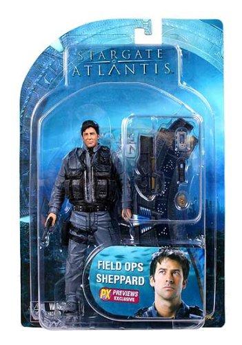 Stargate Atlantis Exclusive Field Ops Sheppard 18cm Actionfigur