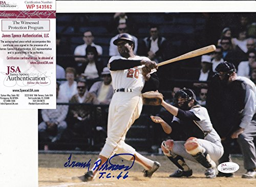 - Frank Robinson Signed Photograph - TRIPLE CROWN 66 8x10 - JSA Certified - Autographed MLB Photos