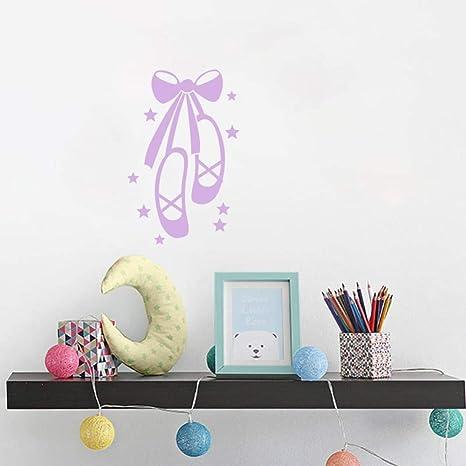 pegatina de pared Zapatos de ballet Dormitorio para niñas ...