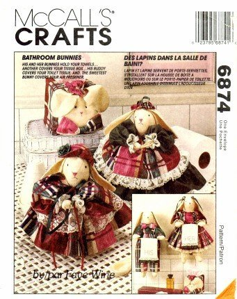 - McCall's 6874 Crafts Sewing Pattern Faye Wine Bathroom Bunnies