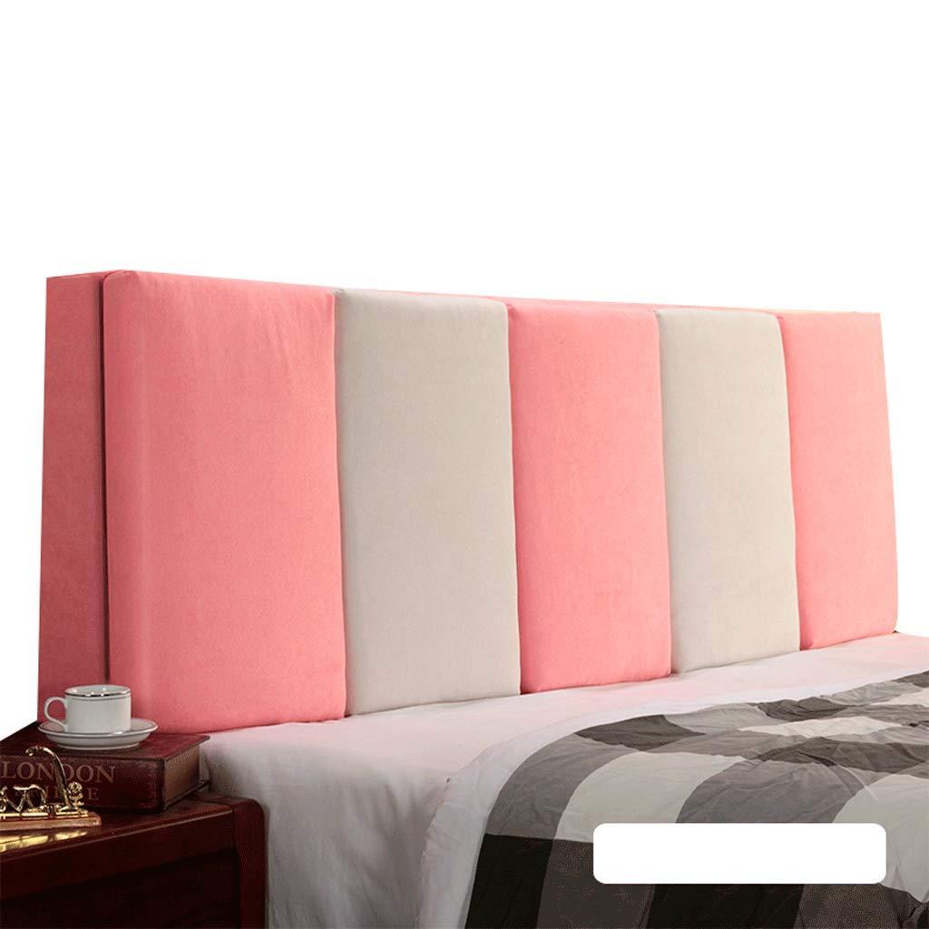 【特別セール品】 ベッドサイド ダブルベッド背もたれクッションヘッドボードソファ張りの柔らかい枕腰椎パッド取り外し可能、7色、6サイズ (色 : Gray+Beige, サイズ さいず : 160cm) B07R7SNQW3 180cm|Pink+Beige Pink+Beige 180cm, エンデュランス 79dad123