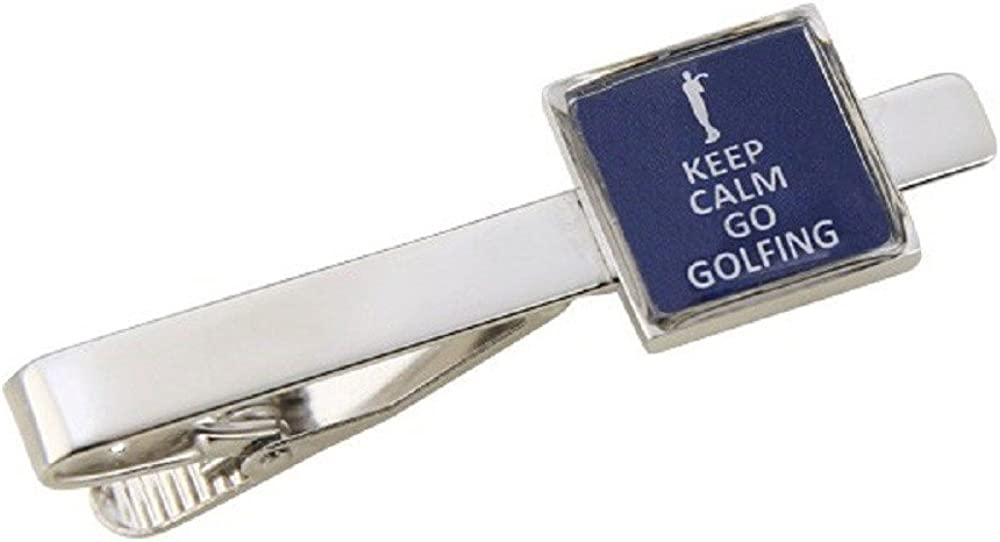 Procuffs Keep Calm Go Golfing Tie Bar Clasp Clip Golf Sports Club Ball