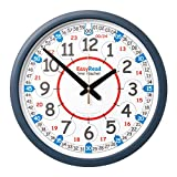 EasyRead Time Teacher Carton of 10 Children's Classroom Wall Clocks, 12 & 24 hour time, 14'' diameter