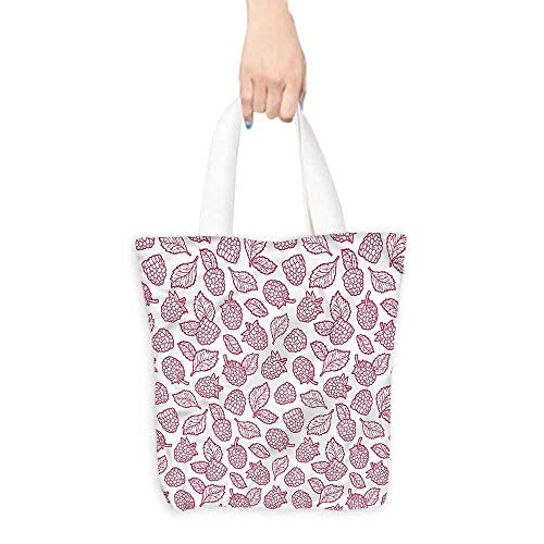 - Handbag or crossbody messenger bag,Fruit Doodle Style Raspberry,Reusable Grocery Bags,16.5