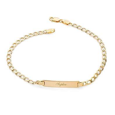 e62ee3bd95b1 Pulsera de identificación con cadena de oro amarillo de 9 quilates para  bebé