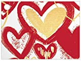 Heart Of Gold Theme Card (6 Pack) 3-3/4 x 2-3/4''
