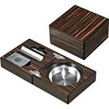 New Visol Bremen Cigar Ashtray with Cigar Cutter and Punch