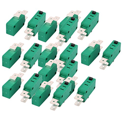 uxcell 20 Pcs KW3-0Z Short Hinge Roller Lever SPDT Momentary Micro Switch 16A 125/250V AC ()