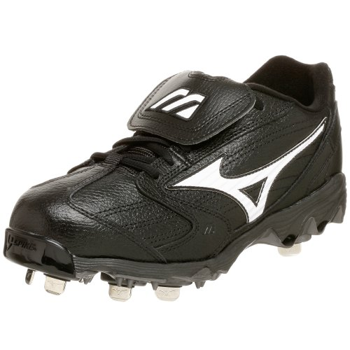 Mizuno Men's 9-Spike Classic Low G4 Cleat,Black/White,11.5 M