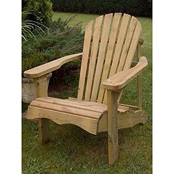 Swedish Redwood Adirondack Relaxing Garden Chair Amazon Co Uk