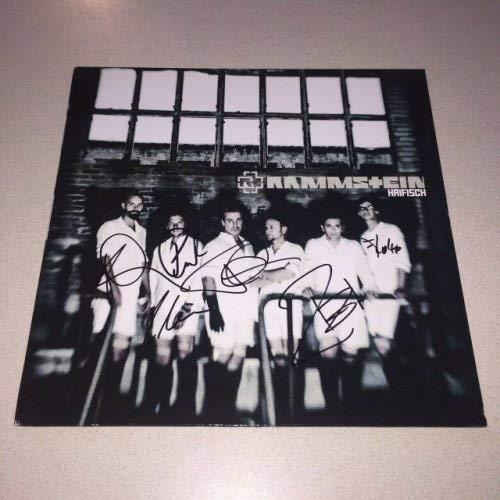 Rammstein Autographed Signed Memorabilia Haifisch Album Till Lindemann 5 Beckett Bas Loa